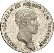1 Thaler - Friedrich Wilhelm III (Berlin mint visit) – obverse