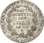 1 Thaler - Friedrich Wilhelm III (Berlin mint visit) – reverse