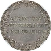 1 Thaler - Friedrich Wilhelm III. (Mining Thaler) – reverse