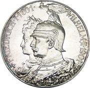 5 Mark - Wilhelm II (Kingdom of Prussia) – obverse