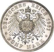 5 Mark - Wilhelm II (Kingdom of Prussia) – reverse