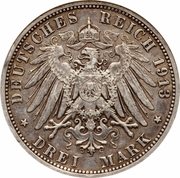 3 Mark - Wilhelm II (Reign) – reverse