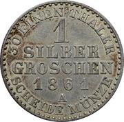 1 Silbergroschen - Wilhelm I – reverse