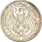3 Mark - Wilhelm II (Passing of Mansfeld) – reverse