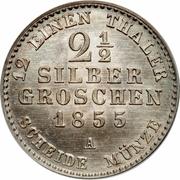 2½ Silber Groschen - Friedrich Wilhelm IV -  reverse