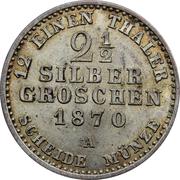 2½ Silber Groschen - Wilhelm I – reverse