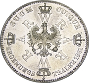 1 Thaler - Wilhelm I (Coronation) – reverse