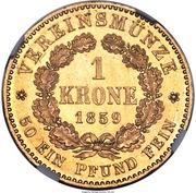 1 Krone - Friedrich Wilhelm IV – reverse