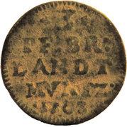 3 Pfennig - Friedrich I. – reverse