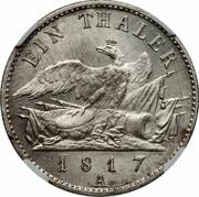 1 Thaler - Friedrich Wilhelm III -  reverse