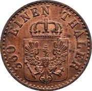 1 Pfenning - Friedrich Wilhelm IV – obverse