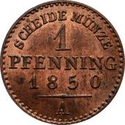 1 Pfenning - Friedrich Wilhelm IV – reverse