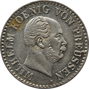 ½ Silber Groschen - Wilhelm I – obverse