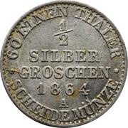 ½ Silber Groschen - Wilhelm I – reverse