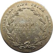 1 Reichsthaler - Friedrich Wilhelm III – reverse