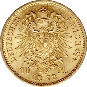 10 Mark - Wilhelm I – reverse