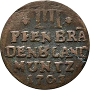 4 Pfennig - Friedrich I – reverse