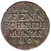 1 Pfennig - Friedrich Wilhelm Ⅲ – reverse