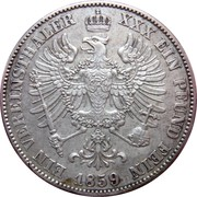 1 Vereinsthaler - Friedrich Wilhelm IV – reverse