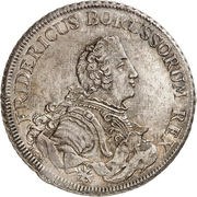 1 Piaster - Friedrich II. (Trade coinage) – obverse