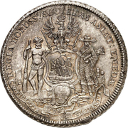 1 Piaster - Friedrich II. (Trade coinage) – reverse