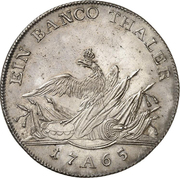 1 Banco Thaler - Friedrich II. – reverse
