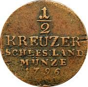 ½ Kreuzer - Friedrich Wilhelm II – reverse