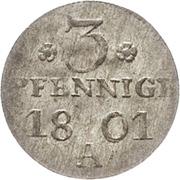 3 Pfennige - Friedrich Wilhelm III. – reverse