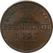 4 Pfenninge - Friedrich Wilhelm IV – reverse