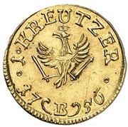 1 Kreuzer - Friedrich II. (Gold Pattern) – reverse