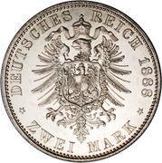 2 Mark - Friedrich III – reverse