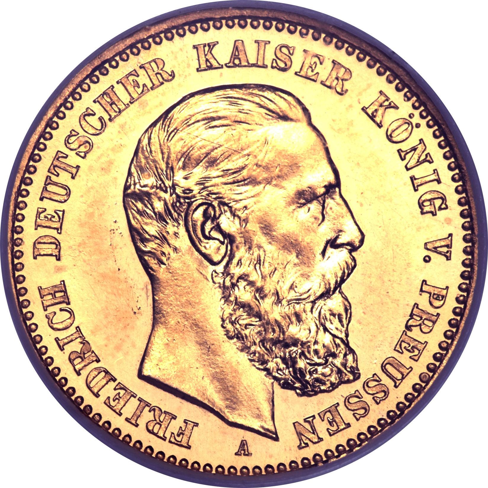 10 Mark Friedrich Iii Kingdom Of Prussia Numista