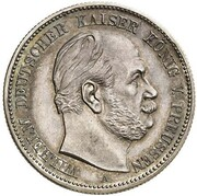 2 Mark - Wilhelm I (Pattern) – obverse