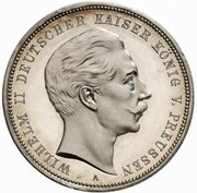 3 Mark - Wilhelm II. (Pattern) – obverse
