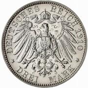 3 Mark - Wilhelm II. (University of Berlin - Pattern) – reverse