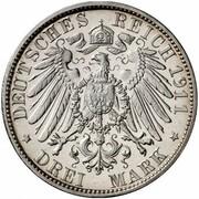 3 Mark - Wilhelm II. (University of Breslau - Pattern) – reverse