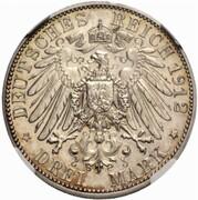 3 Mark - Wilhelm II. (Reign - Pattern) – reverse