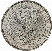 3 Mark - Wilhelm II. (Passing of Mansfeld - Pattern) – reverse