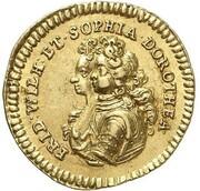 ½ Ducat - Friedrich I. (Marriage) – obverse
