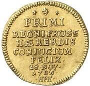 ½ Ducat - Friedrich I. (Marriage) – reverse