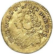¼ Ducat - Friedrich I. (Marriage) – obverse