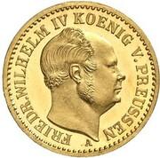 ½ Krone - Friedrich Wilhelm IV – obverse
