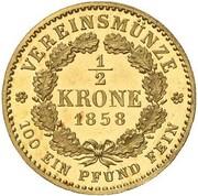 ½ Krone - Friedrich Wilhelm IV – reverse