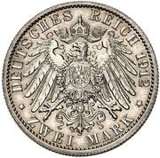 2 Mark - Wilhelm II (Reign - Pattern) – reverse