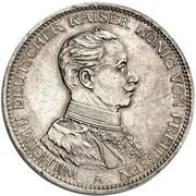 3 Mark - Wilhelm II (Pattern) – obverse