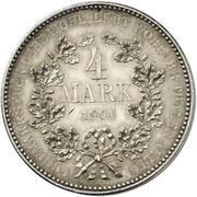 4 Mark - Wilhelm II. – reverse