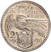 2 Mark - Wilhelm II – reverse