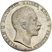 5 Mark - Wilhelm II (Pattern) – obverse