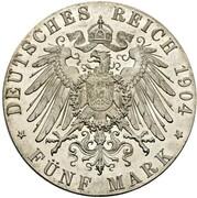 5 Mark - Wilhelm II (Pattern) – reverse
