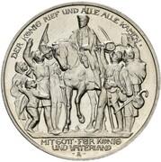 3 Mark - Wilhelm II (Declaration of war of Prussia against Napoleon - Pattern) – obverse